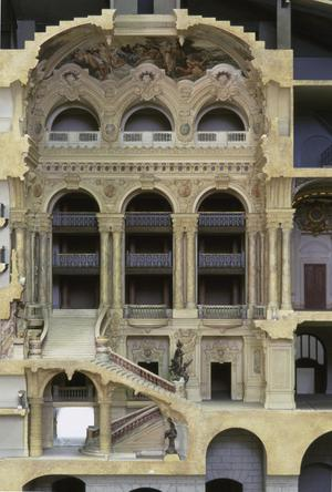 Primary view of Model: Longitudinal Section of the Opera (1:100 scale)