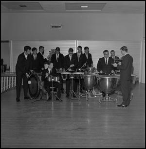 Primary view of object titled '[Lab Band percussion players]'.