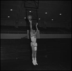 Primary view of object titled '[North Texas Eagles Basketball Player]'.