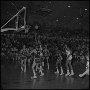 Primary view of object titled '[Men's Basketball Game Eagles vs Titans]'.