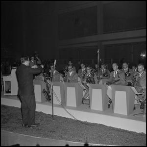 Primary view of object titled '[Lab Band at the State Fair]'.