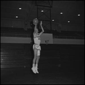 Primary view of object titled '[North Texas Eagles Basketball Player, 2]'.