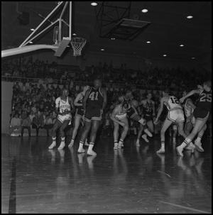Primary view of object titled '[Men's Basketball North Texas vs. Wichita, 2]'.