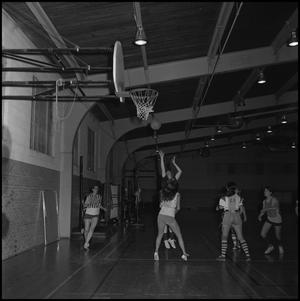 Primary view of object titled '[Women's basketball team practice]'.