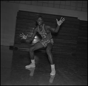 Primary view of object titled '[North Texas State Basketball Player Albert Jones, 3]'.
