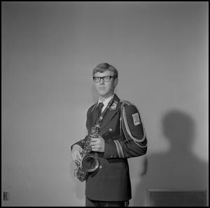 Primary view of object titled '[Concert band saxophone player]'.