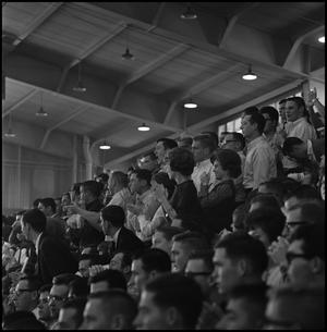 Primary view of object titled '[Crowd at NT vs. Wichita Men's Basketball Game]'.