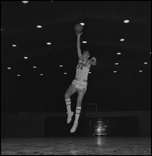 Primary view of object titled '[Terry Reiter shooting a basketball, 2]'.