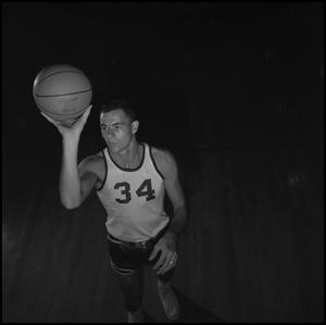 Primary view of object titled '[Eagle Varsity Basketball Player Dwight Dow]'.