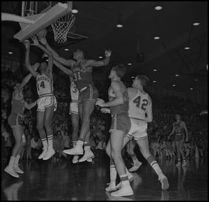 Primary view of object titled '[NTSU vs Louisville Basketball Game]'.