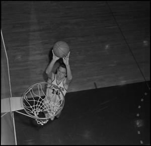Primary view of object titled '[NTSU Basketball Player Jack Plunkert]'.