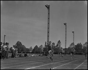 Primary view of object titled '[North Texas Student at Finish Line]'.