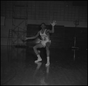 Primary view of object titled '[Matthew Huff on the court, 2]'.