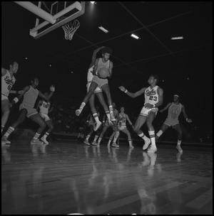 Primary view of object titled '[Men's Basketball Game against UTA opponents]'.