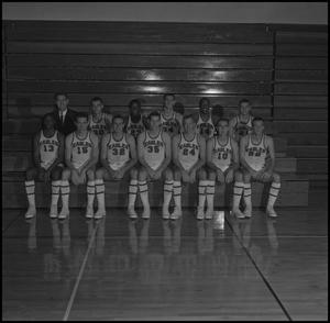 Primary view of object titled '[1963-1964 Men's Varsity Basketball]'.