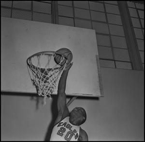 Primary view of object titled '[Eagle Varsity Basketball Player Don Mitchell, 2]'.