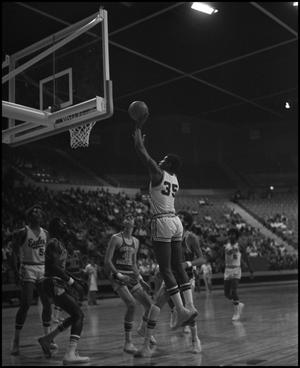 Primary view of object titled '[North Texas Eagles vs Georgia Southern Basketball Game]'.
