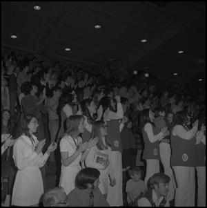 Primary view of object titled '[Spectators at North Texas Basketball Game]'.