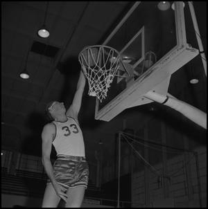 Primary view of object titled '[North Texas Basketball Player No. 33]'.
