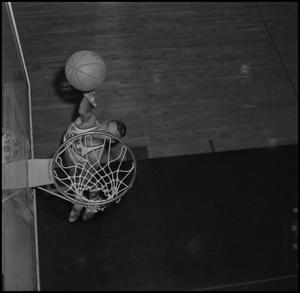 Primary view of object titled '[NTSU Basketball Player Mike Long, 2]'.