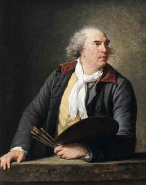 Primary view of object titled 'Portrait of the Painter Hubert Robert'.