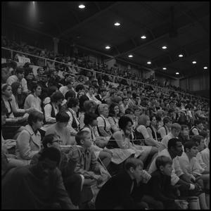 Primary view of object titled '[Crowd watching a men's basketball game]'.