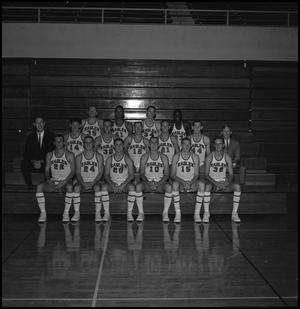 Primary view of object titled '[1964-1965 Men's Varsity Basketball Team, 2]'.