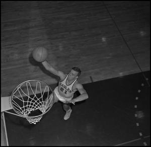 Primary view of object titled '[NTSU Basketball Player Fred Schulz, 3]'.