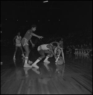 Primary view of object titled '[Two Basketball Players Fighting For Ball]'.
