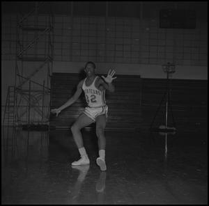 Primary view of object titled '[Matthew Huff on the court]'.