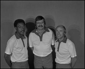 Primary view of object titled '[North Texas State University basketball coaches Jimmy C. Gales, Bill Blakeley, and Billy Tubbs]'.