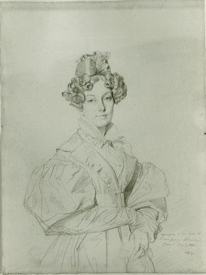Primary view of object titled 'Portrait of Madame Raoul-Rochette'.