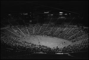 Primary view of object titled '[Interior of North Texas's Coliesum During Basketball Game]'.