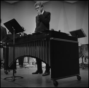 Primary view of object titled '[Man with a Xylophone]'.