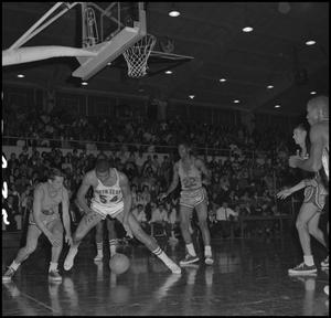 Primary view of object titled '[North Texas vs Okla City Basketball Game]'.