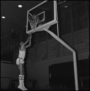 Primary view of object titled '[Willie Davis Shooting Hoops]'.