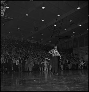 Primary view of object titled '[Referee at Basketball Game]'.