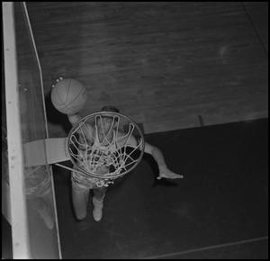 Primary view of object titled '[NTSU Basketball Player Fred Schulz, 2]'.