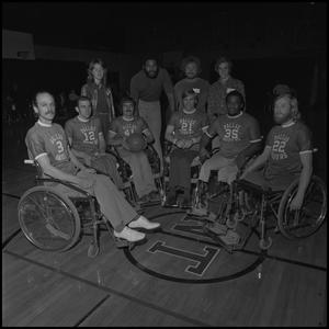 Primary view of object titled '[Dallas Raiders at 1974 Wheelchair Basketball Tournament]'.