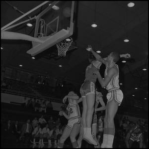 Primary view of object titled '[North Texas Basketball Game Against Drake University, 2]'.