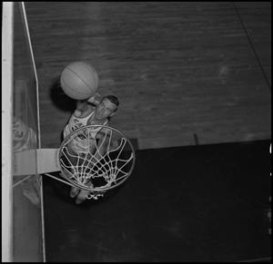 Primary view of object titled '[NTSU Basketball Player Mike Long]'.