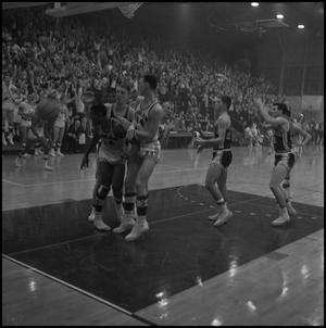 Primary view of object titled '[North Texas vs. Bradley basketball game]'.