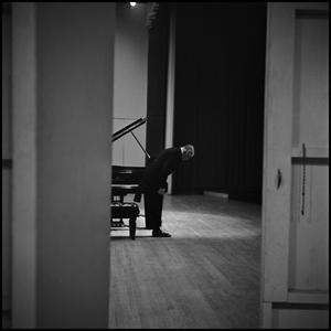 Primary view of object titled '[Stefan Bardas taking a bow after a performance, 1965]'.