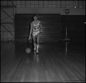 Primary view of object titled '[Bob Baker in mid-dribble]'.