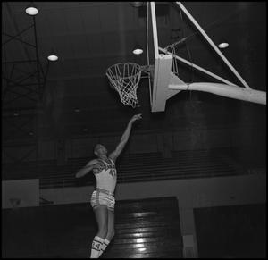 Primary view of object titled '[Willie Davis Shooting Hoops, 5]'.