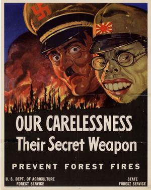 Primary view of object titled 'Our carelessness, their secret weapon : prevent forest fires.'.