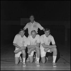 Primary view of object titled '[Four North Texas basketball coaches]'.