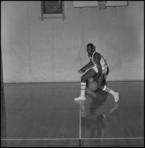 Primary view of object titled '[Albert Jones NTSU Basketball, 2]'.