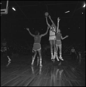 Primary view of object titled '[Men's Basketball Game in the Coliseum Eagles vs Tulsa]'.