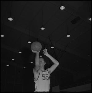 Primary view of object titled '[North Texas Basketball Player, No 55]'.